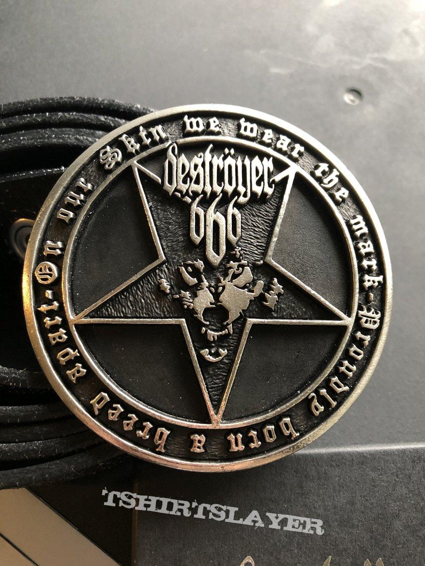 Deströyer 666 beltbuckle