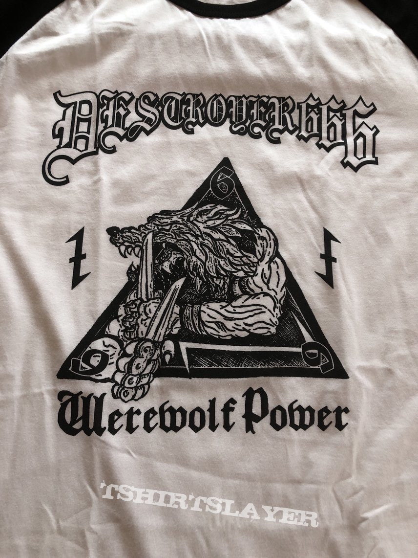 Deströyer 666 werewolf power raglan baseballshirt
