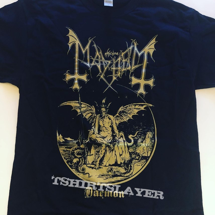 Mayhem daemon gold print