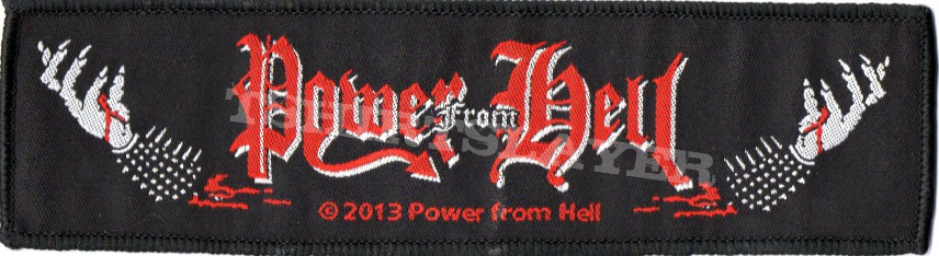 Power from hell the true metal woven patch | satanicrex.