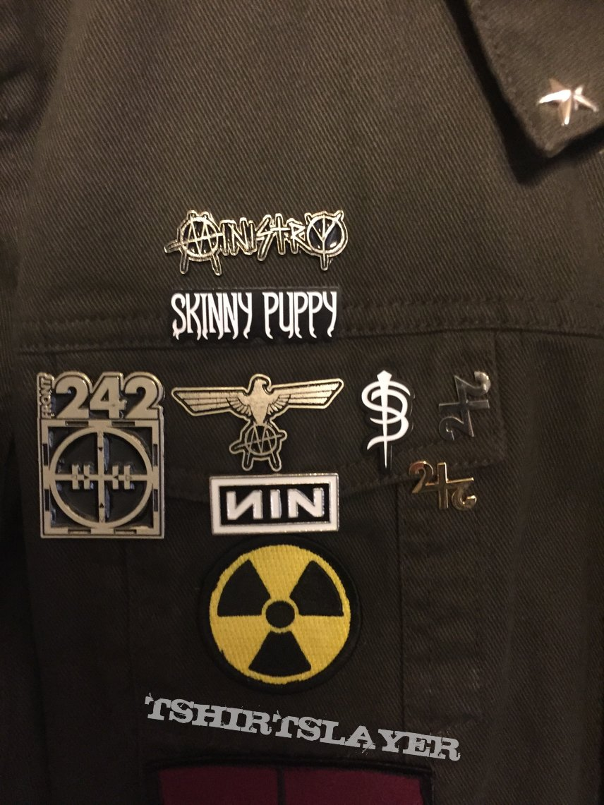 Back of my industrial tribute jacket