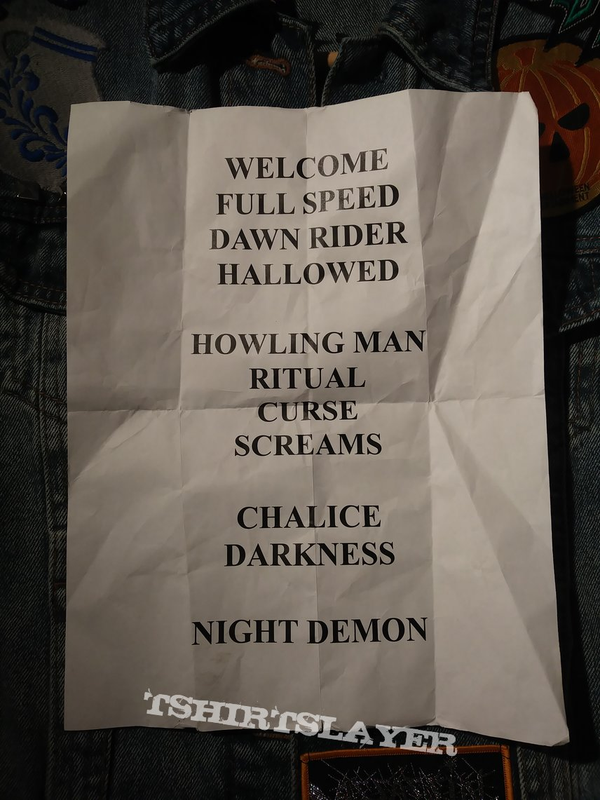 Night Demon Setlist