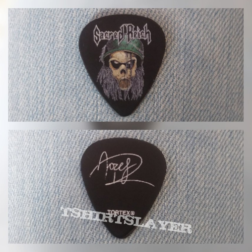 Stage used Sacred Reich pick