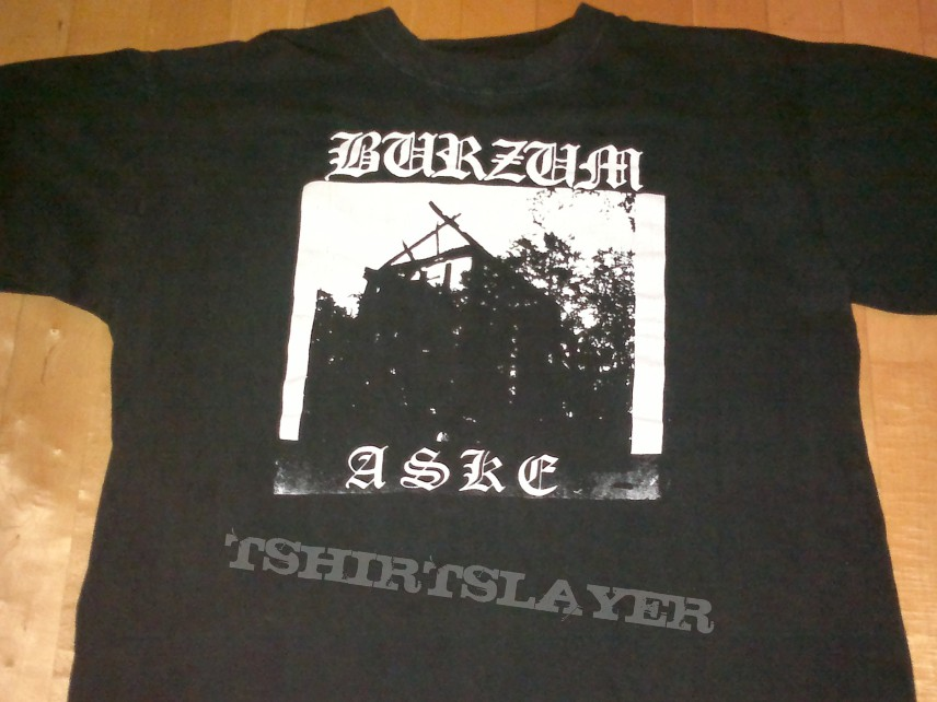 TShirt or Longsleeve - Burzum - Aske - Megarare VERY FIRST PRINT shirt, made by VARG in 1992