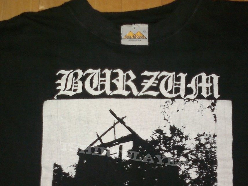 TShirt or Longsleeve - Burzum - Aske - Megarare VERY FIRST PRINT shirt, made by VARG in 1992
