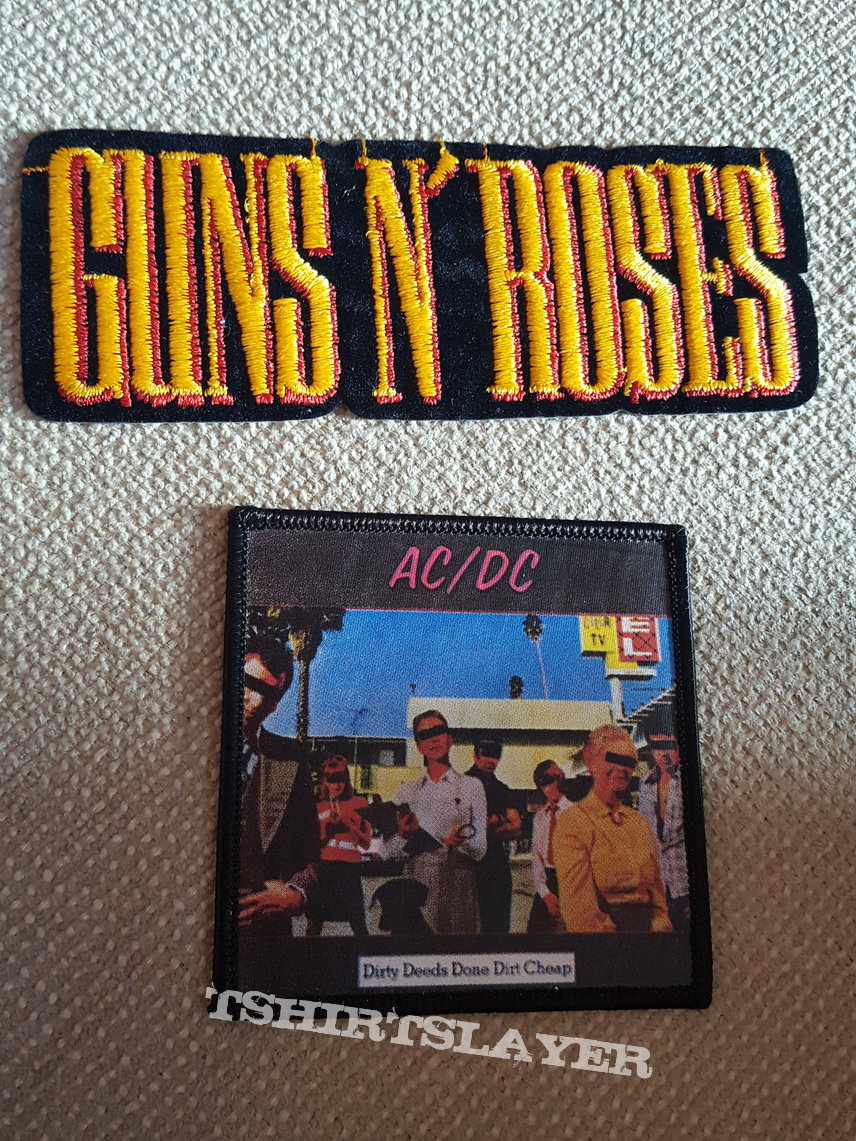 Guns N Roses . AC/DC Patches