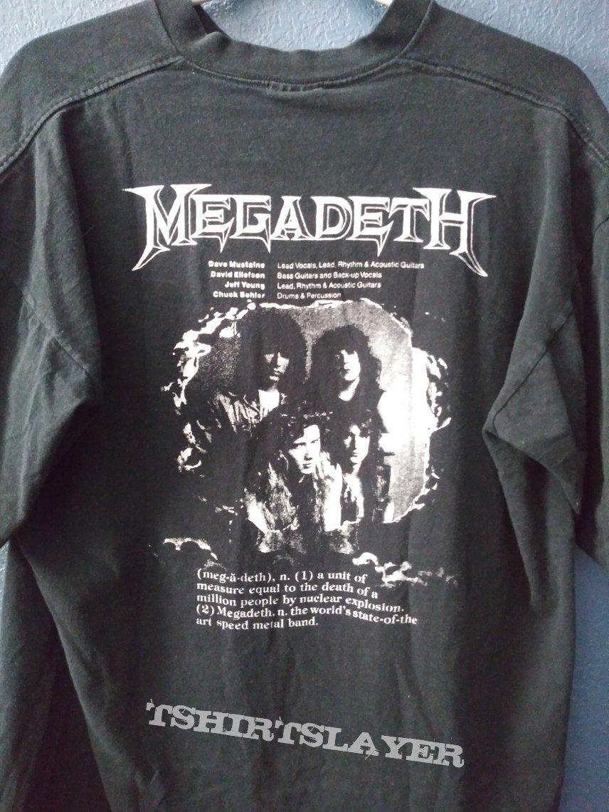 Megadeth Mary Jane So Far So Good So What tour shirt