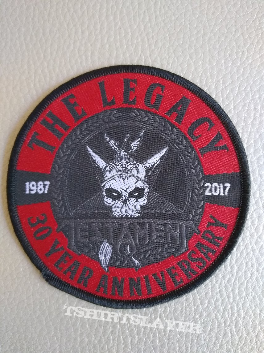 Testament - The legacy - 30 year anniversary - round patch