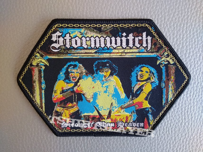 """STORMWITCH """"Stronger Then Heaven"""" (black border)patches"""