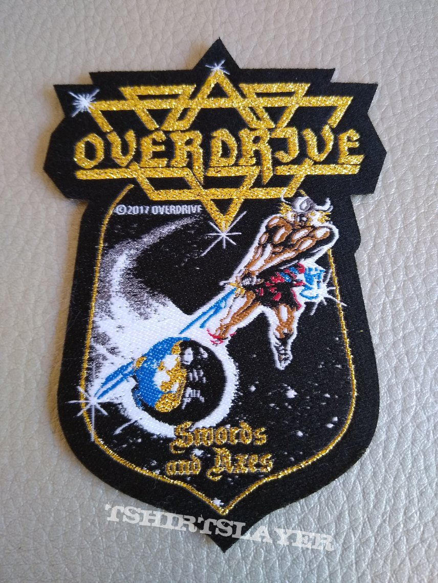"""Overdrive - """"Swords And Axes"""" Official Woven Patch"""