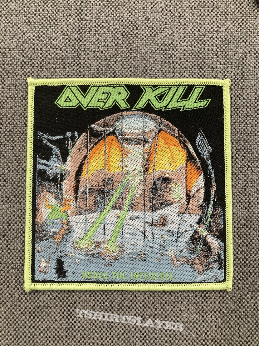 Overkill - Under The Influence Woven Patch