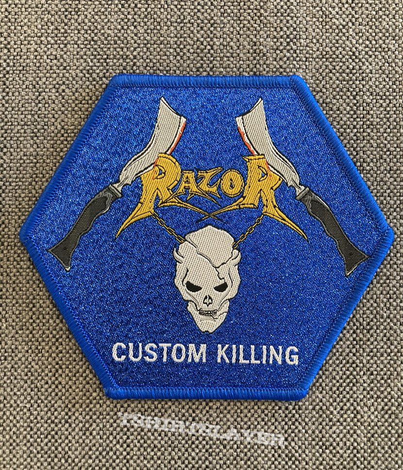 Razor - Custom Killing Official Woven Hexagon Patch