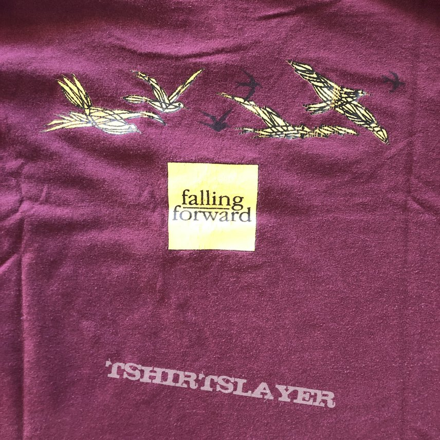 Falling Forward • Kid throwing leaves • Burgundy XL