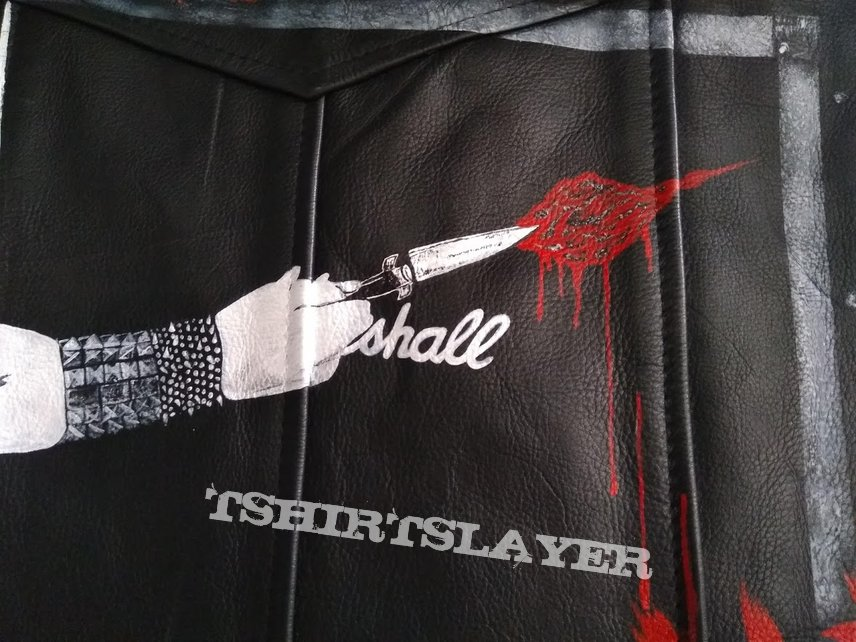 handpainted Exciter heavy metal maniac vest
