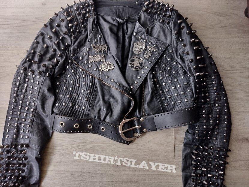 my diy handstudded handpainted Teitanblood black metal punk jacket