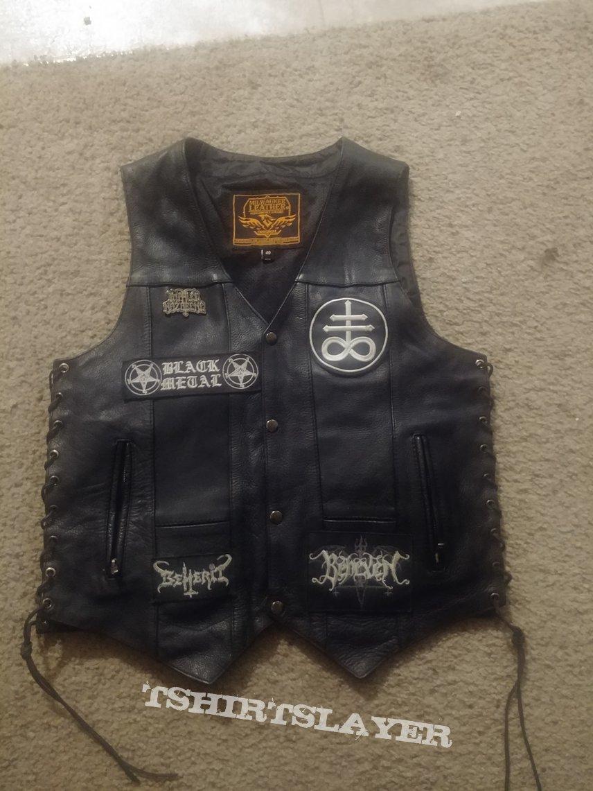 Minimal Finnish Black Metal worship vest