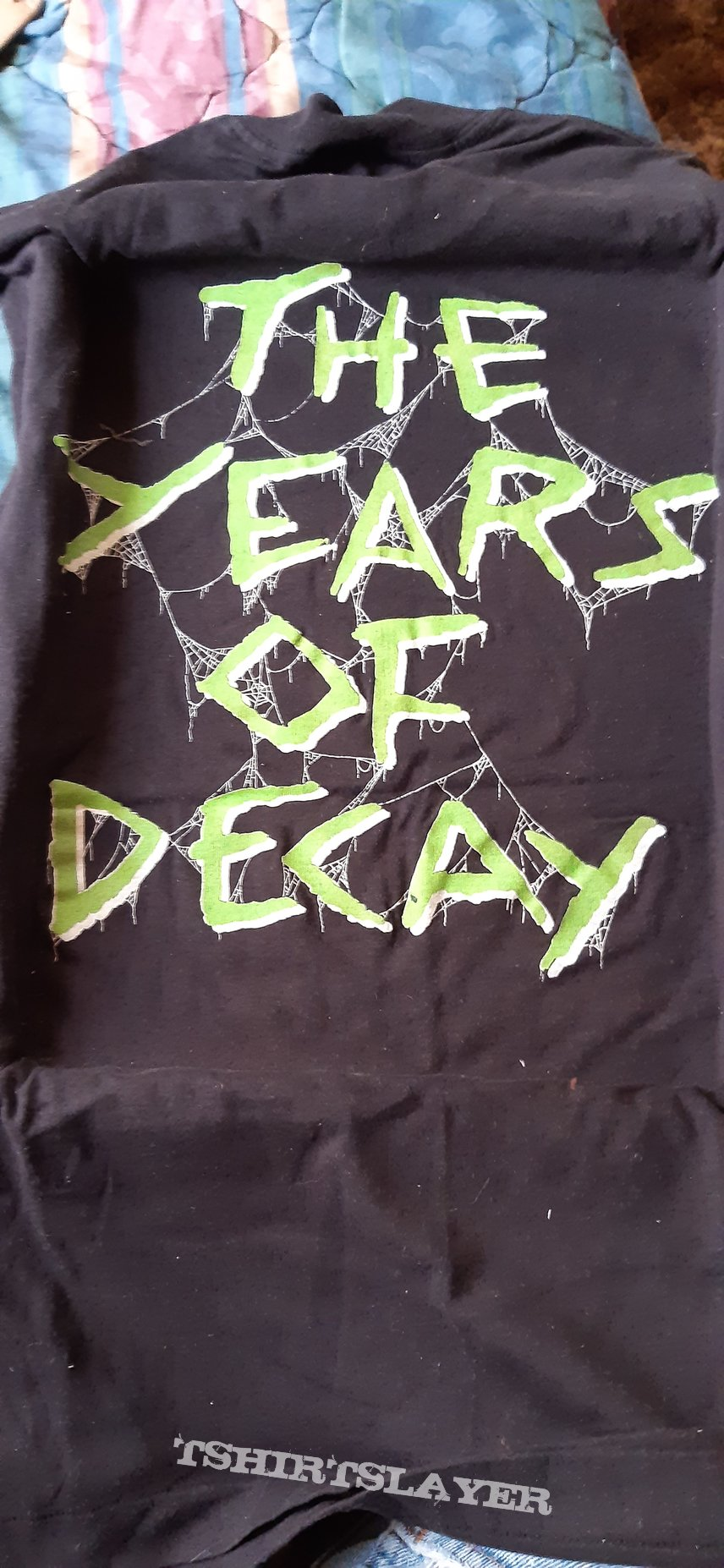 Overkill Bobby Gustafson's Skullkrusher Years of Decay tour shirt