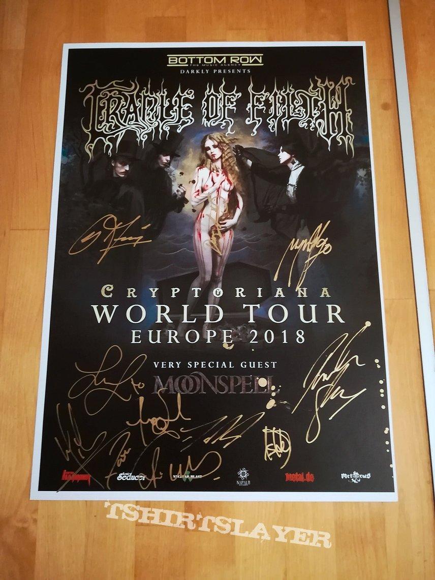 Full signed promo tour poster 2018