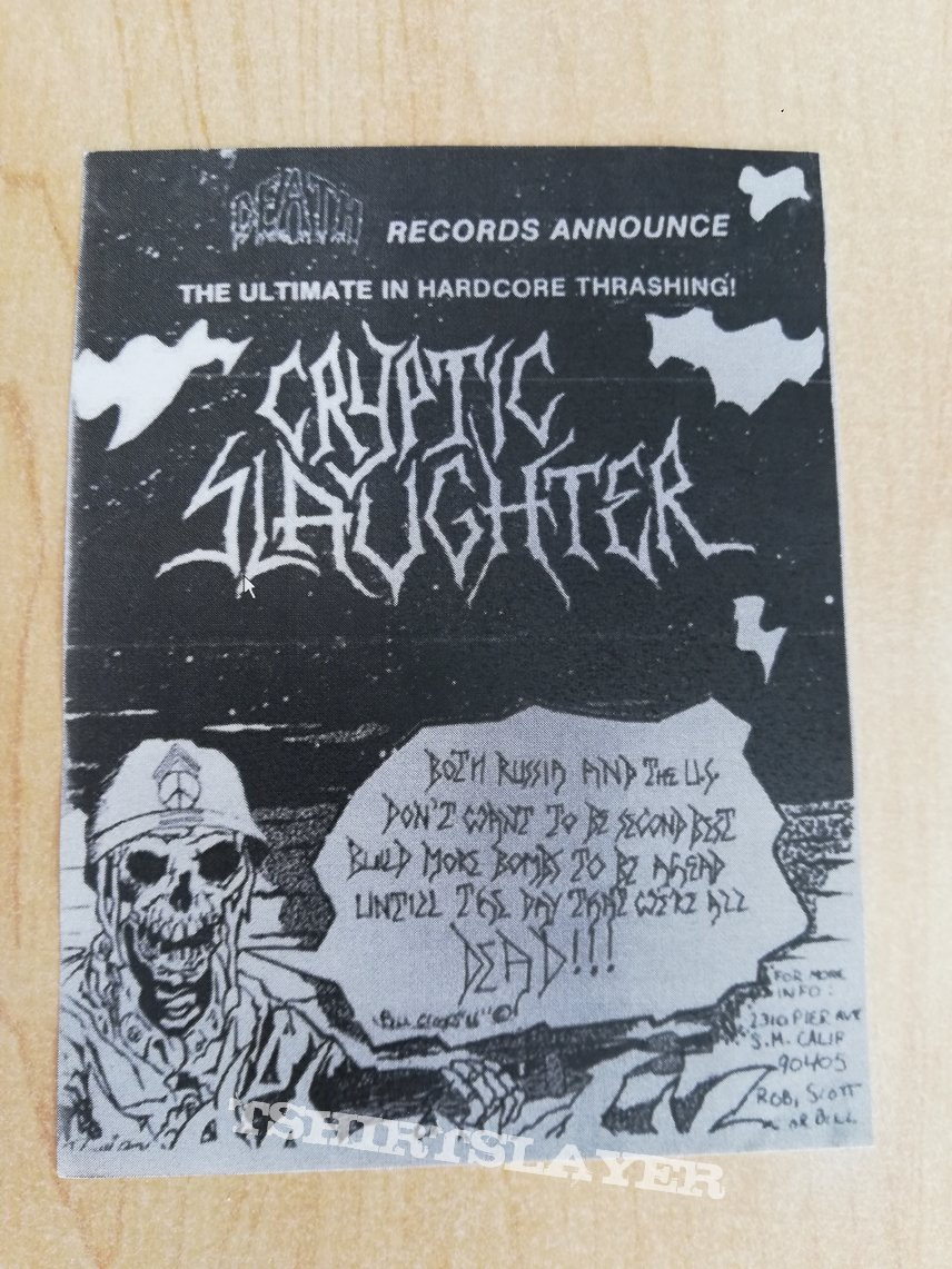 Cryptic slaughter - flyer