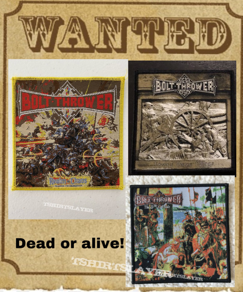 Bolt thrower bois wanted!