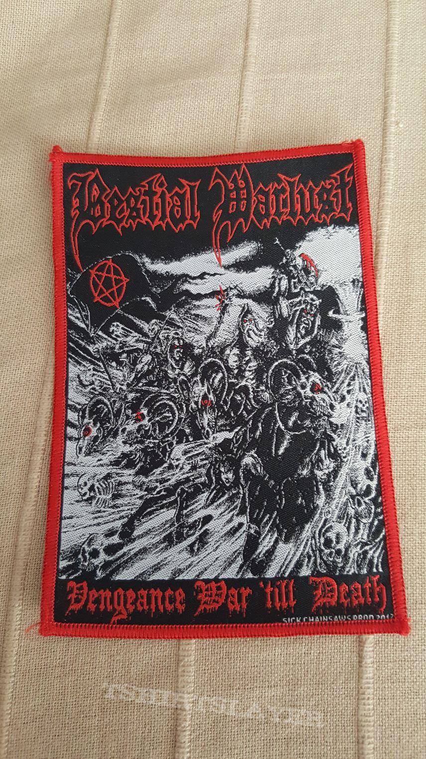 Bestial Warlust - Vengeance War 'Till Death Woven Patch