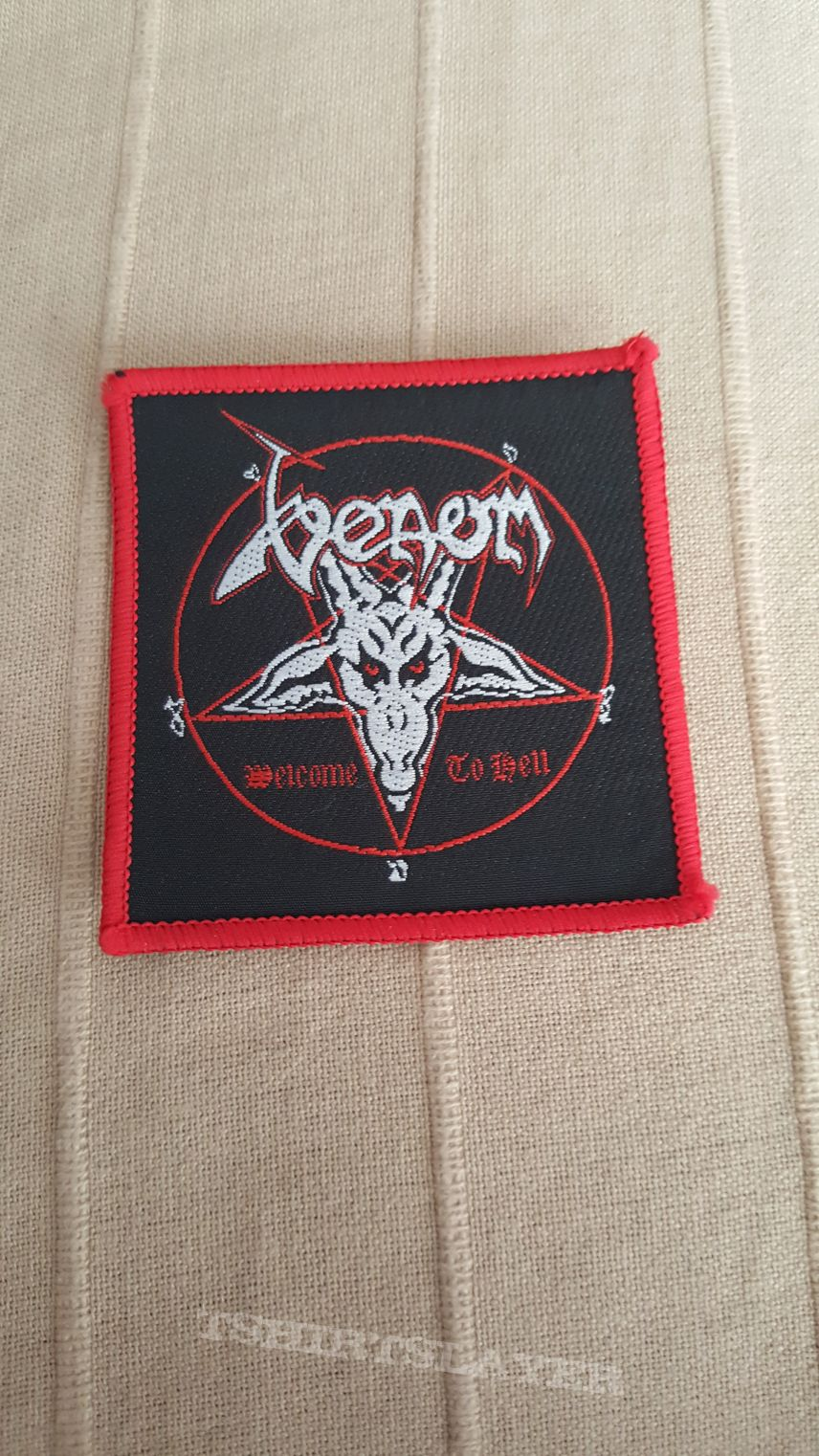 Venom - Welcome To Hell Original Square Patch With Red Borders