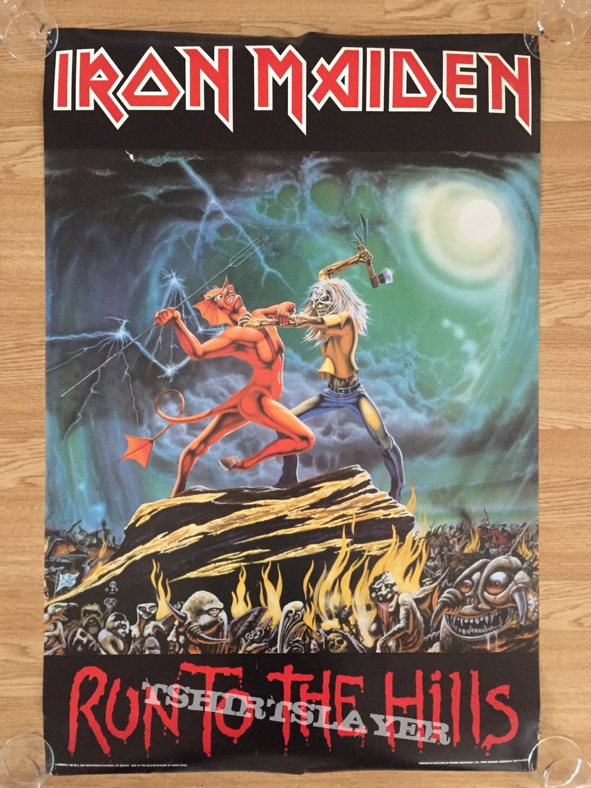 Iron Maiden Run To The Hills (Pace/Minerva poster 1987)