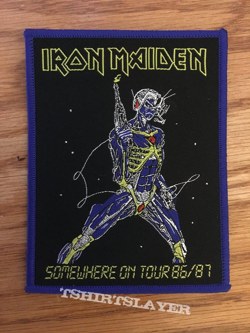 Iron Maiden Somewhere on Tour 86/87 bootleg patch
