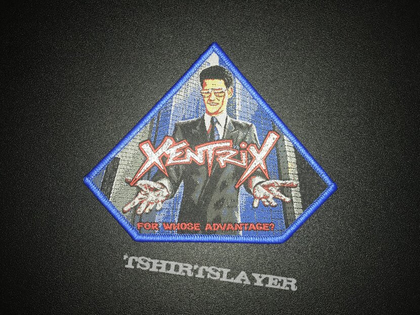Xentrix For Who's Advantage? patch (blue border)