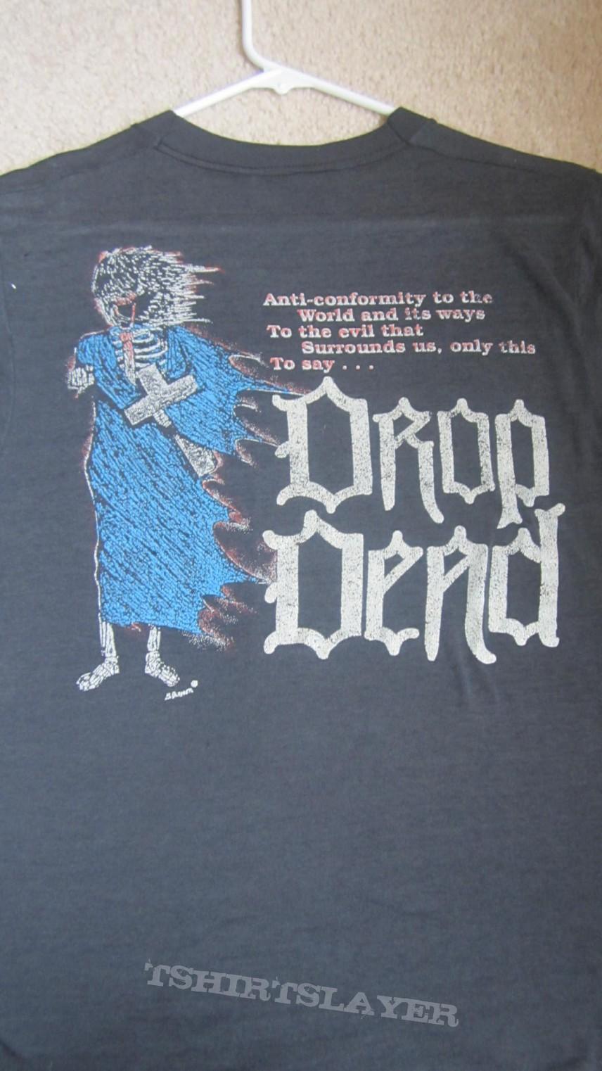 TShirt or Longsleeve - Drop Dead Fall From Grace (1990 Indiana Death/Thrash metal shirt)