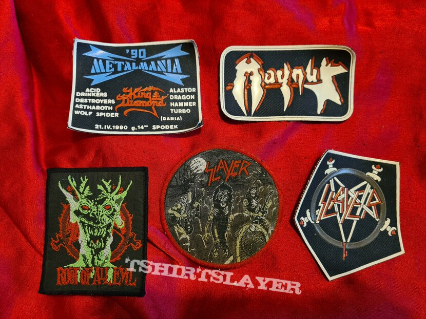 Slayer tshirts and patches
