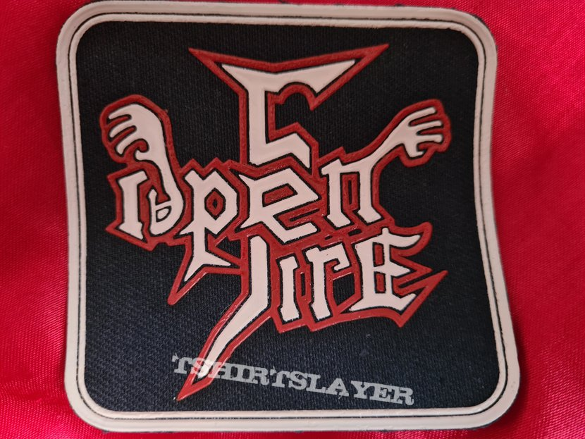 OPEN FIRE old 80's rubber patch