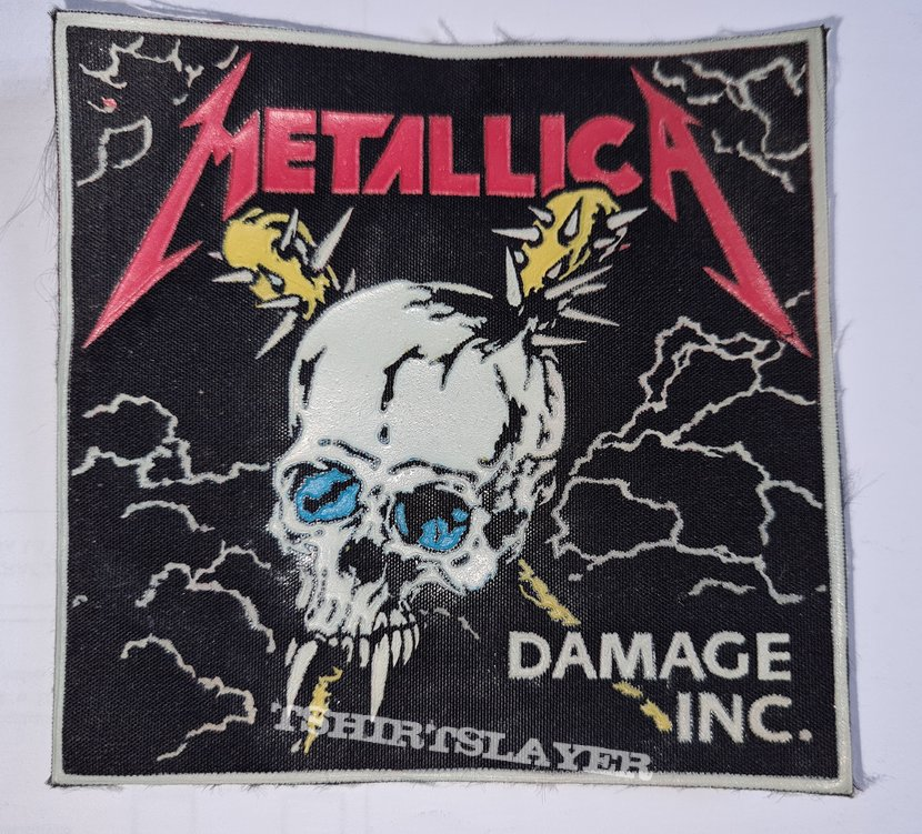 METALLICA old rubber patch