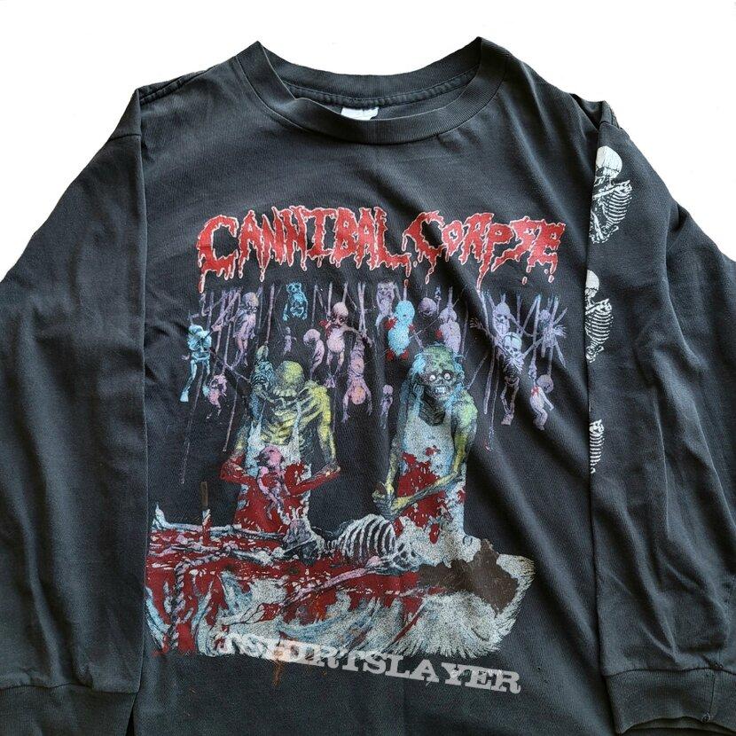 Cannibal Corpse U.S. Butchery Tour '92 long sleeve (L) black. Printed on Murina. 1992