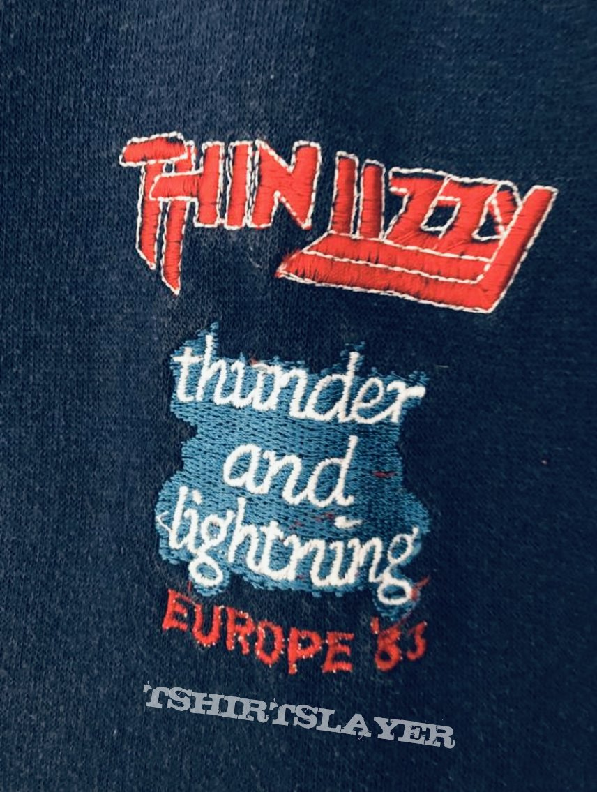 THIN LIZZY 1983 Thunder and Lightning Europe Tour