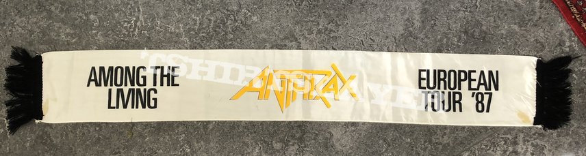 Anthrax Among the Living 1987 Tour Scarf
