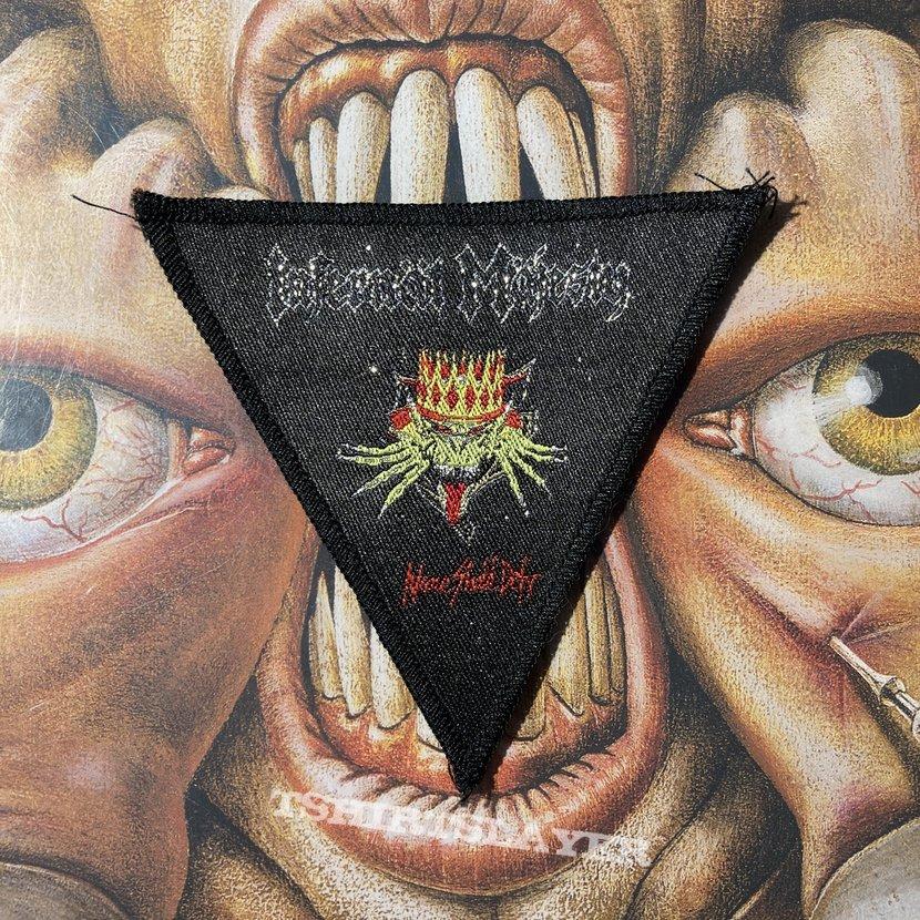 Infernäl Mäjesty - None Shall Defy woven triangle patch