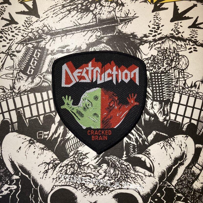 vintage Destruction - Cracked Brain woven patch
