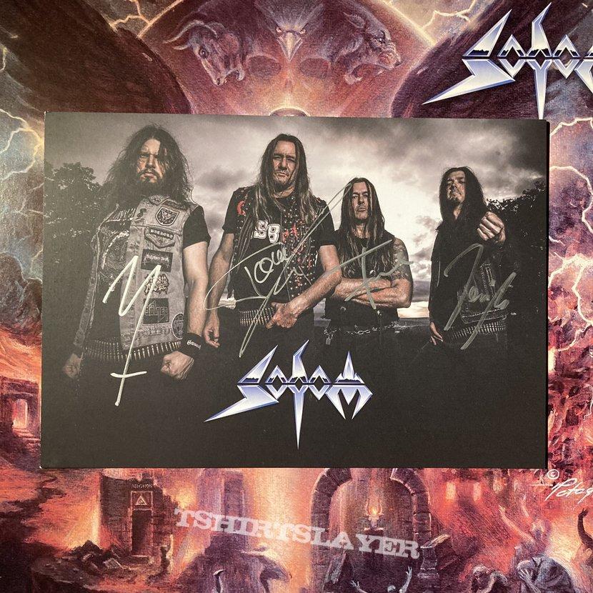 Sodom - Genesis XIX signed band photo