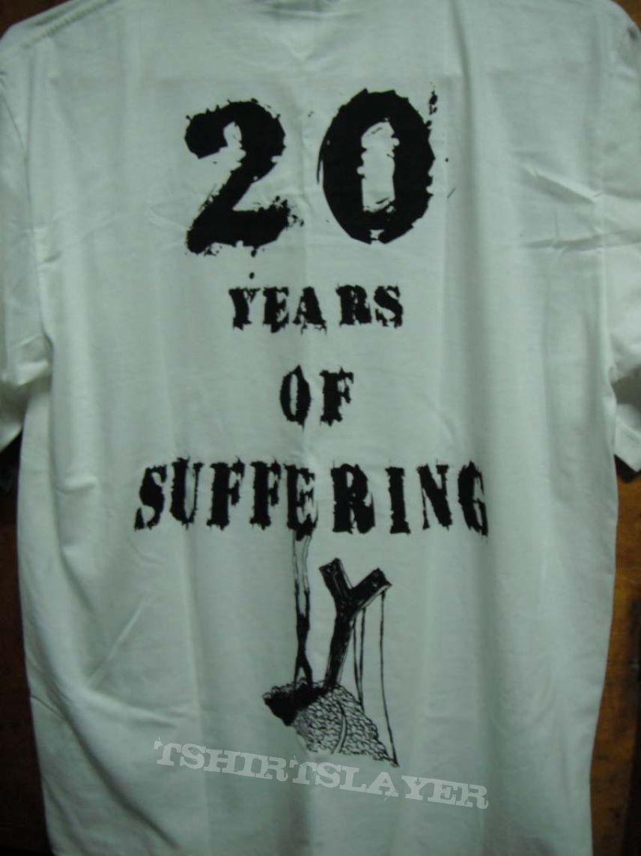 TShirt or Longsleeve - INTERNAL BLEEDING - 20 Years of Suffering (White Shirt)