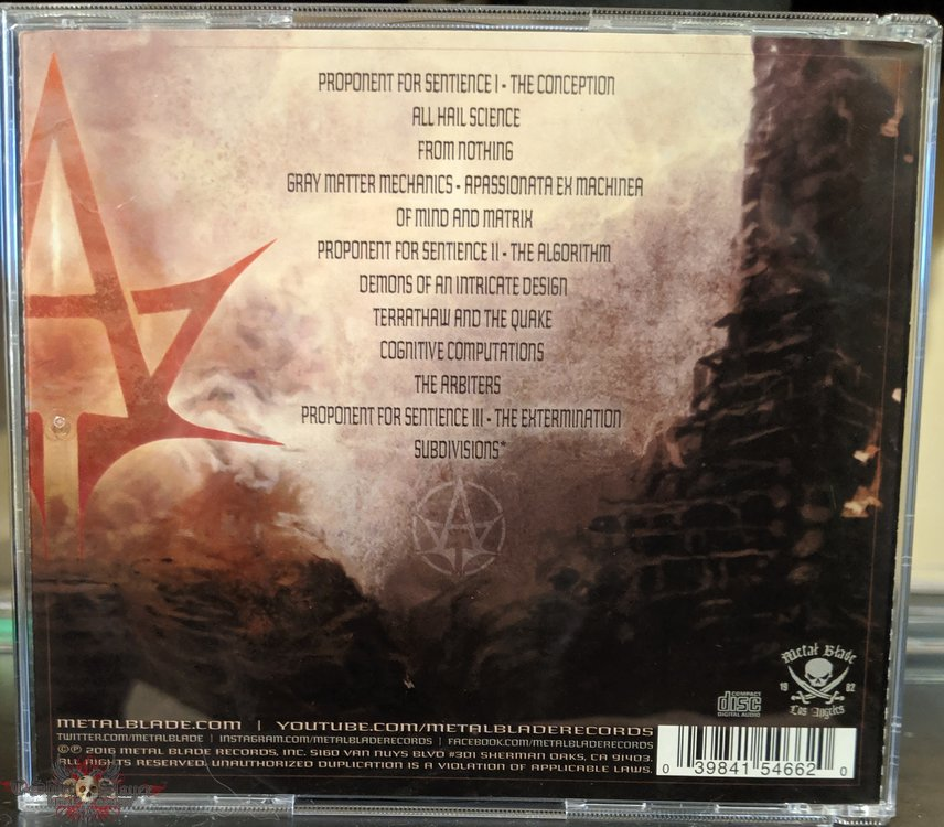 Allegaeon Proponent For Sentience Cd