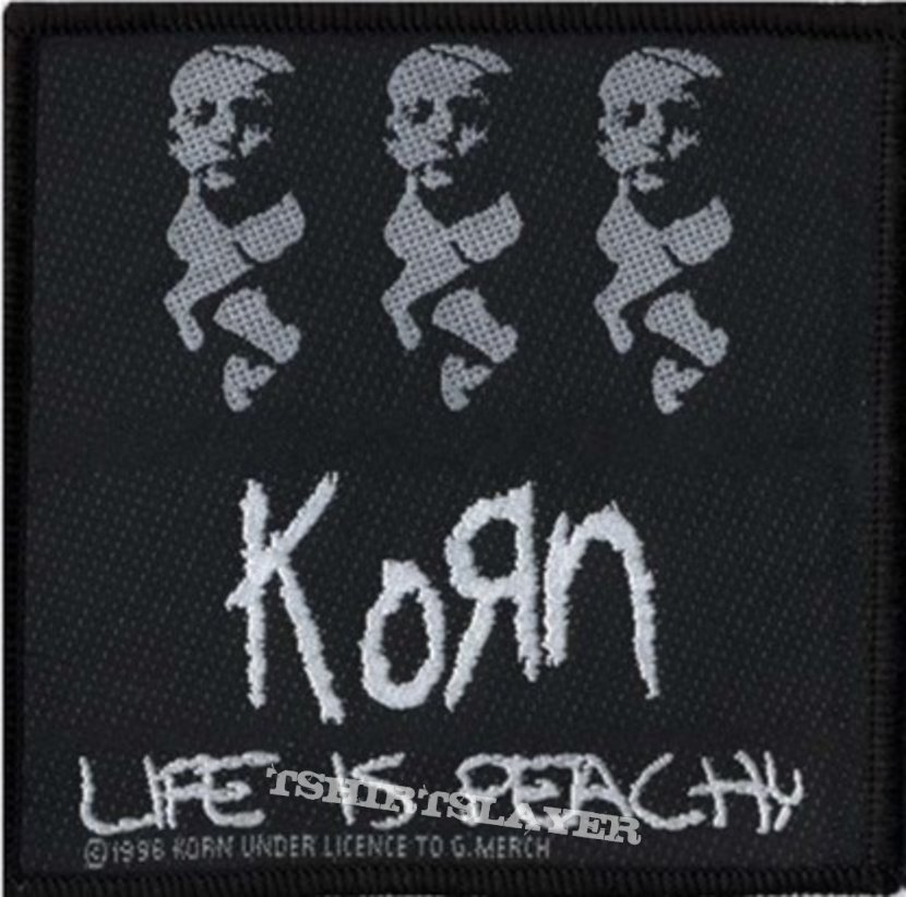 Korn Official 1996 Life is Peachy Woven Patch