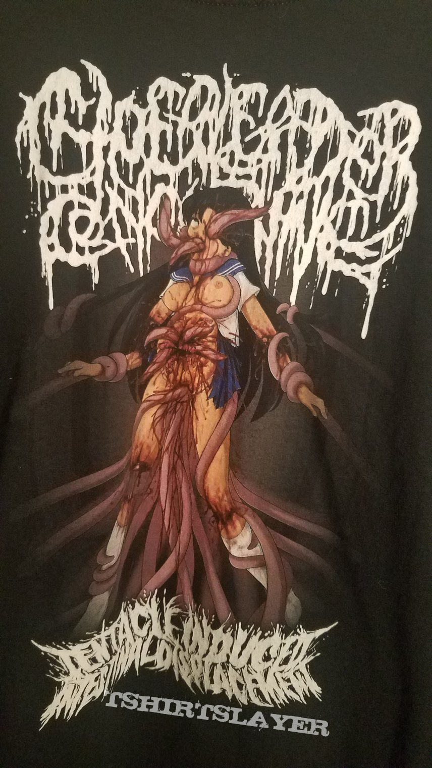 Tentacle Induced Intestinal Displacement Cheerleader Concubine Shirt
