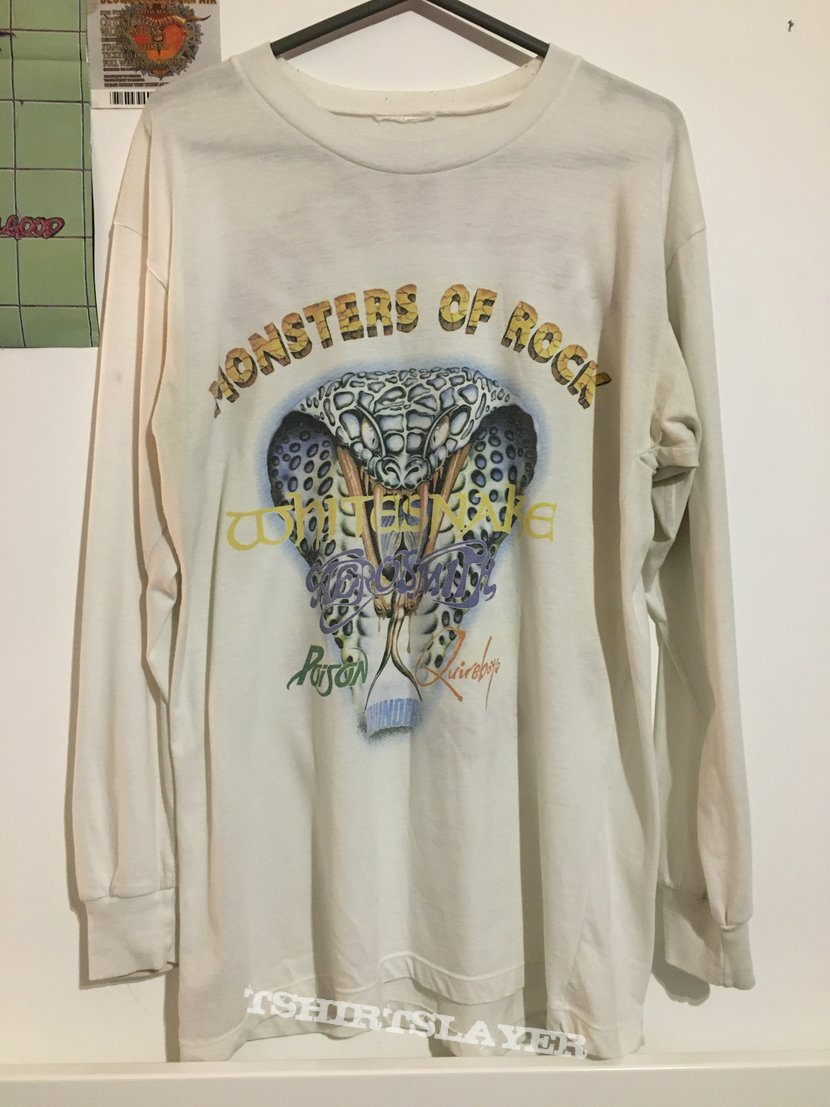 Monsters Of Rock 1990 10th anniversary white longsleeve