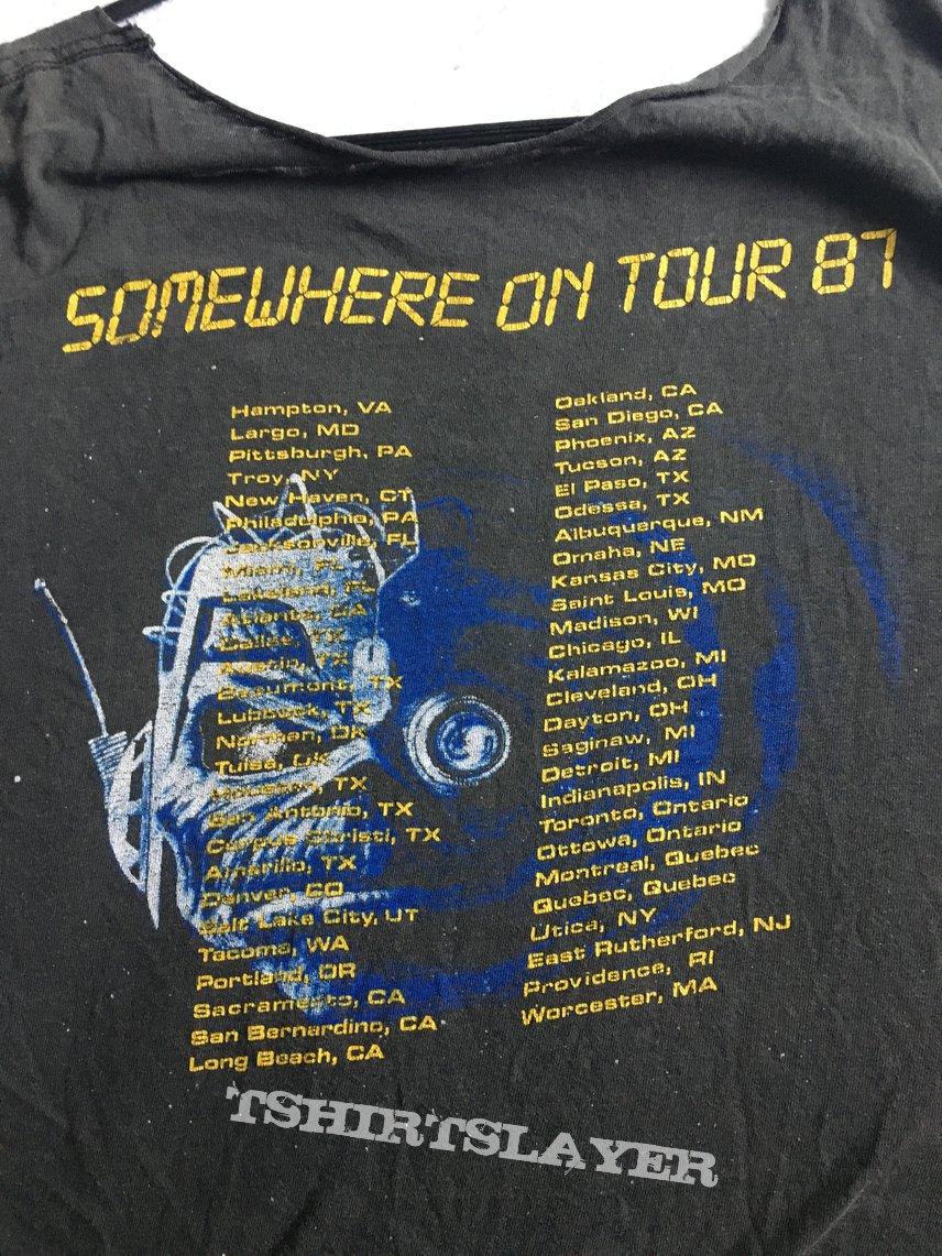 Iron Maiden Somewhere On Tour US 1987 Shirt.