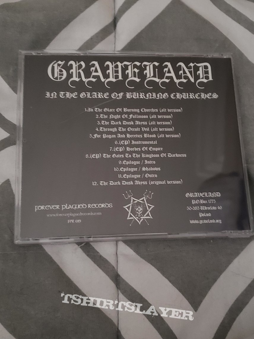 In the glare of burning churches   CD