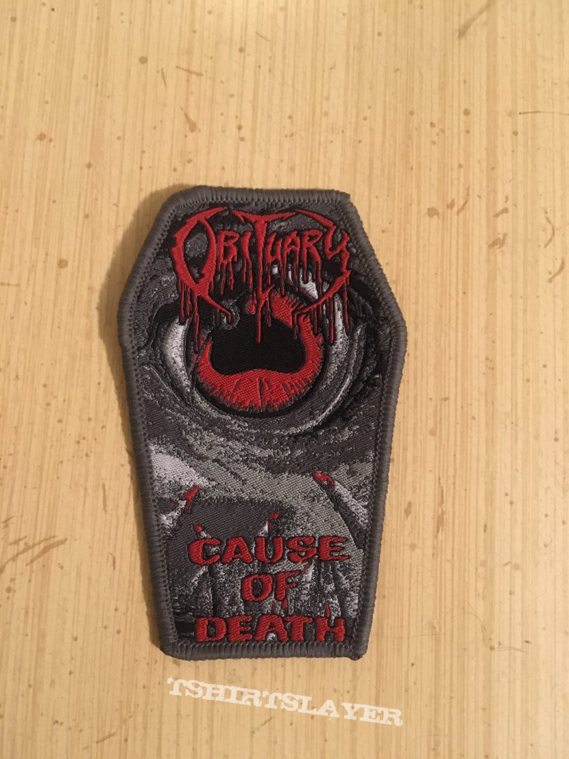 Obituary Cause Of Death Coffin Shape Patch