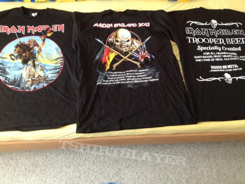 Iron Maden Maiden England Tourshirts 2013