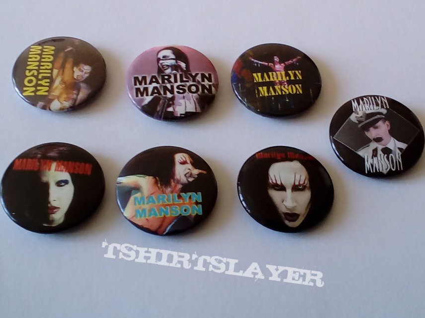 Marilyn Manson badges