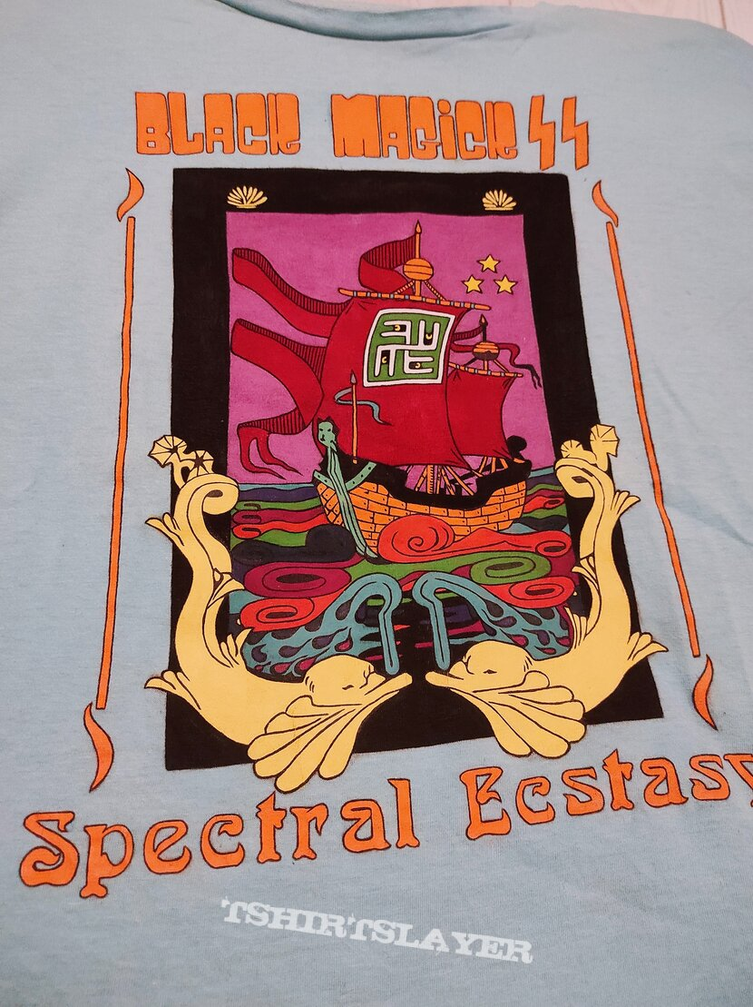 Unique handpainted Black Magick SS Spectral Ecstasy oversized tshirt